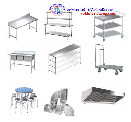 Các sản phẩm thiết bị inox cho khu bếp